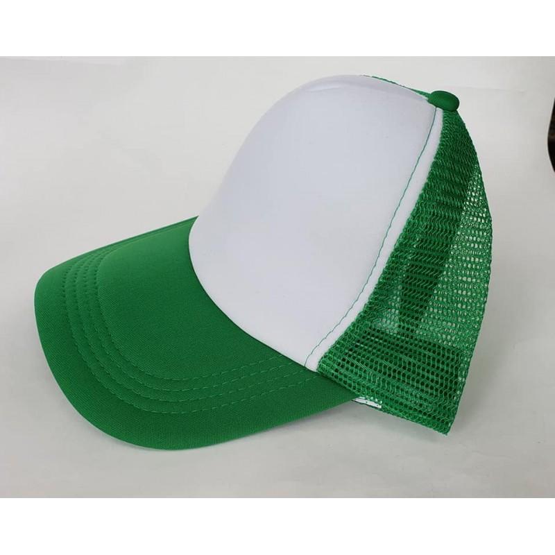 el estudio Típico trama  Gorra Trucker Verde Benetton Frente Blanco