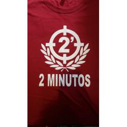 2 MINUTOS REMERA BORDO